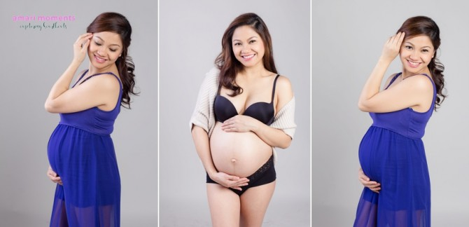 Maternity studio shoot by Amari Moments