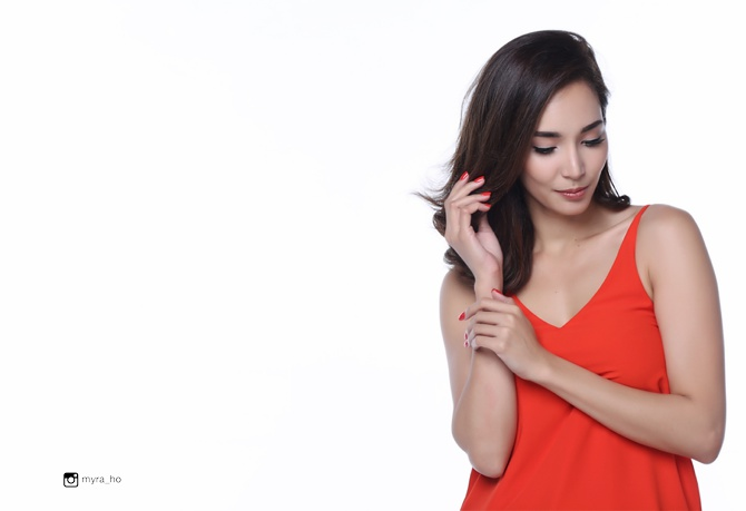 Myra Ho Posh Nails Advertising celebrity shoot